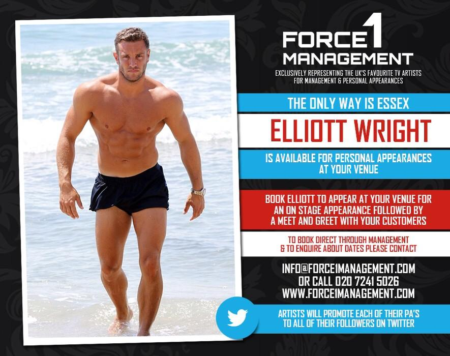 RT @Force1Mgmt: For all Personal Appearance enquiries for @ElliottWright_ please contact info@Force1Management.com http://t.co/uqqktVaxZc
