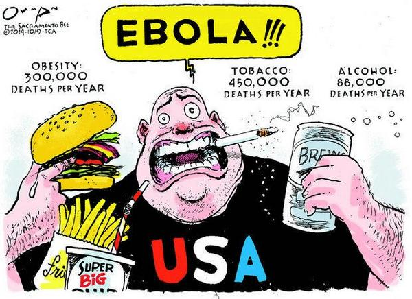 This comic strip about #ebola of brings me much pleasure. People need to focus on reality. http://t.co/eXRkvvTsI2