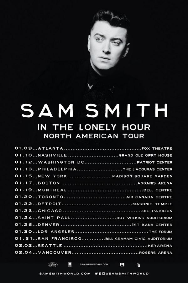 Sam Smith Tour Dates Canada
