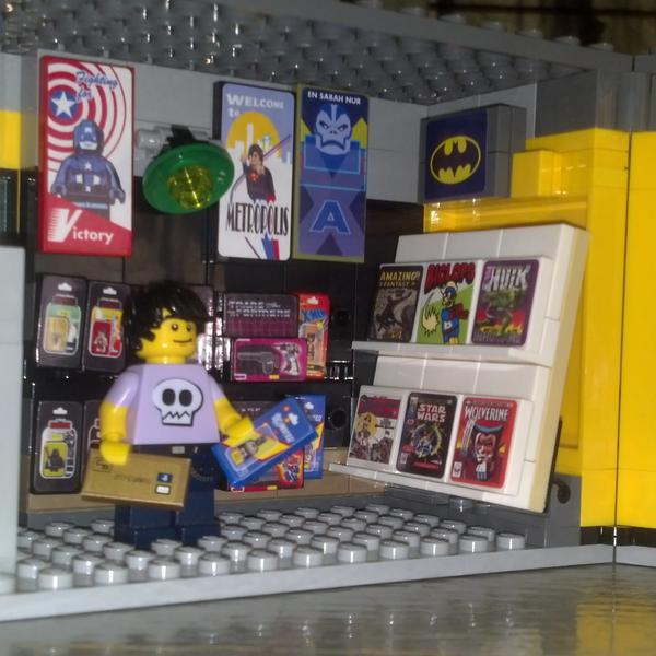 """Erin Tapken on Twitter: """"My pal @seanyx made this Lego comic book ..."""
