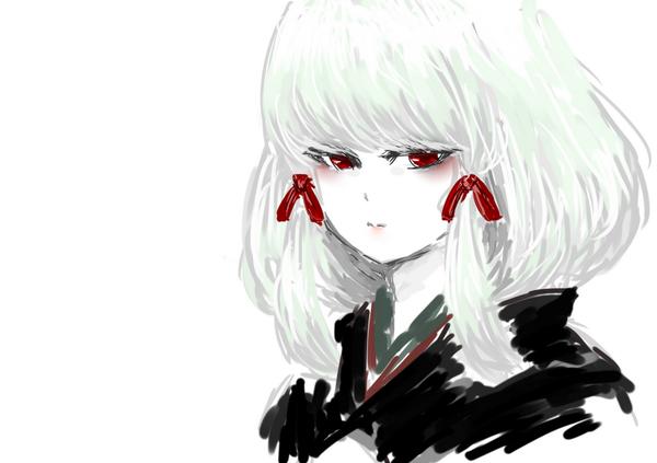 """白菊の中の人、高森さんが自ら描く白菊。演じて下さった時の髪型が白菊そっくりで仕草もどことなく似ており、声も当然本人なので動揺した。""""@takamori_723: ちょい足しイラスト作業の合間に一度は描いてみたかった白菊 #濡鴉ノ巫女 http://t.co/1FZRFbTUEl"""""""