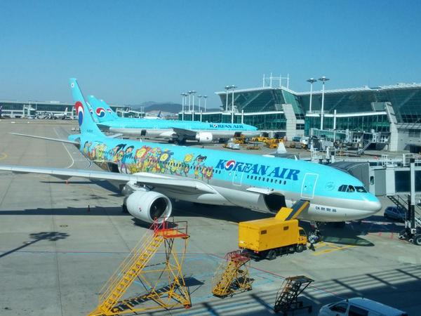Cutest #airplane ever! @KoreanAir_KE #travel #airport #seoul #inchion http://t.co/IQ5Po5hOZ9