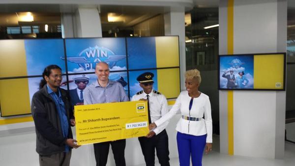 Congratulations Mr. Shikanth Bugwandeen! You are our #MTNSky winner! RT to congratulate him!