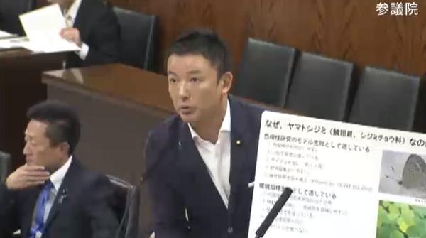 重要指摘! RT @Are_Kore04: 山本太郎議員「琉球大学のヤマトシジミの研究では孫世代の蝶にも影響が出ている。放射能汚染度の高い餌を食べ続けたグループは生存率や正常率が低い。汚染していないものを食べれていれば影響を減らせる http://t.co/pmon7d0PfN