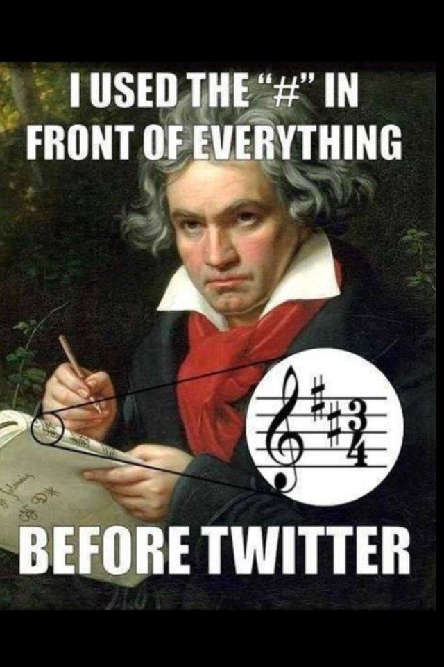 Ludwig's a bit grumpy about hashtags … (via @elvis717) http://t.co/imzlGP84QB