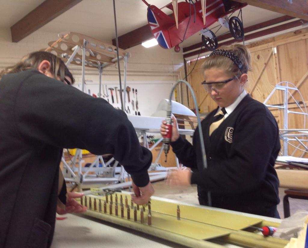 RT @SpiritofGoole: @carolvorders @WES1919 Girls love engineering! Building the Interplane struts for the Sherwood Ranger Biplane http://t.c…