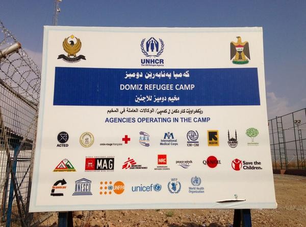 So many #Partners all pulling together at Domiz Camp, Iraq such as @ACTED, @theIRC, @Ponteper. http://t.co/TRnoDXbUPj