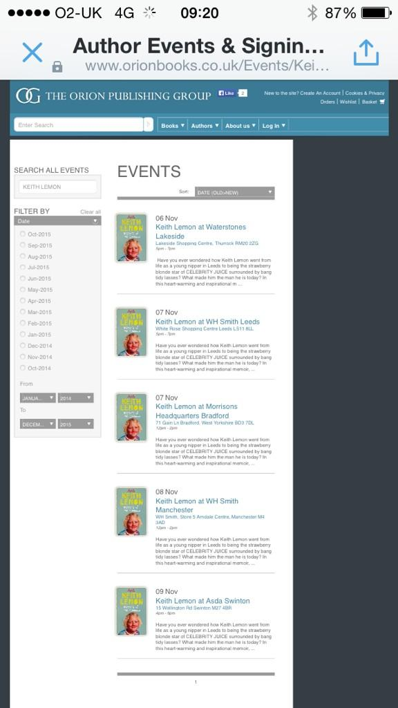 Book signing dates http://t.co/E5a43fCP1S http://t.co/9dOI13DIeR