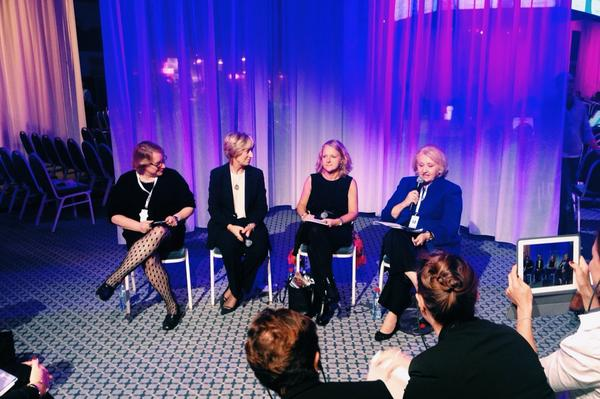 """""""The Multiplier Effect"""" panel at @Womens_Forum feat. @mverveer @WomMovMillions @CocaCola @oakfoundation #WF14 http://t.co/dHtEZyIns3"""