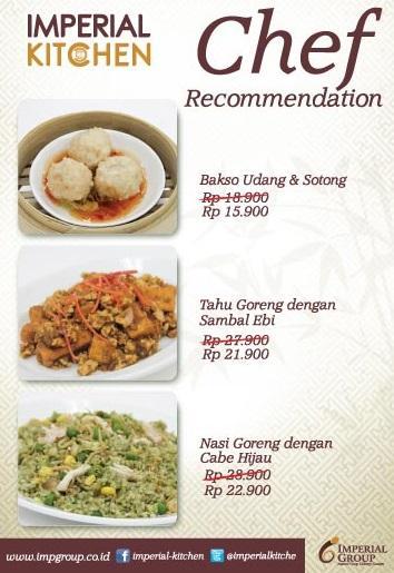 Imperial Kitchen Menu Harga