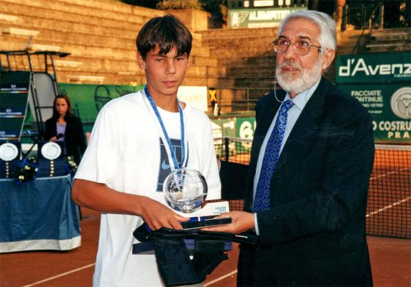 #TBT Exactly 14 years ago today, a young @RafaelNadal won the Tennis Europe 14&U #juniormasters title http://t.co/zRxx5Ec0gG