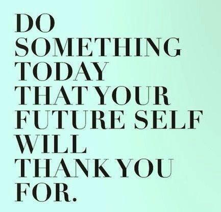 Ook 1 van mijn credo's @Annemariesips ツ  ❀ Do something today that your future self will thank you for! ❀ http://t.co/hWj9GMpDbp