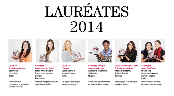 The extraordinary women who won this year's @CartierAwards at @Womens_Forum http://t.co/pRmjfZY13A (via @AnthonyBabkine) #WF14