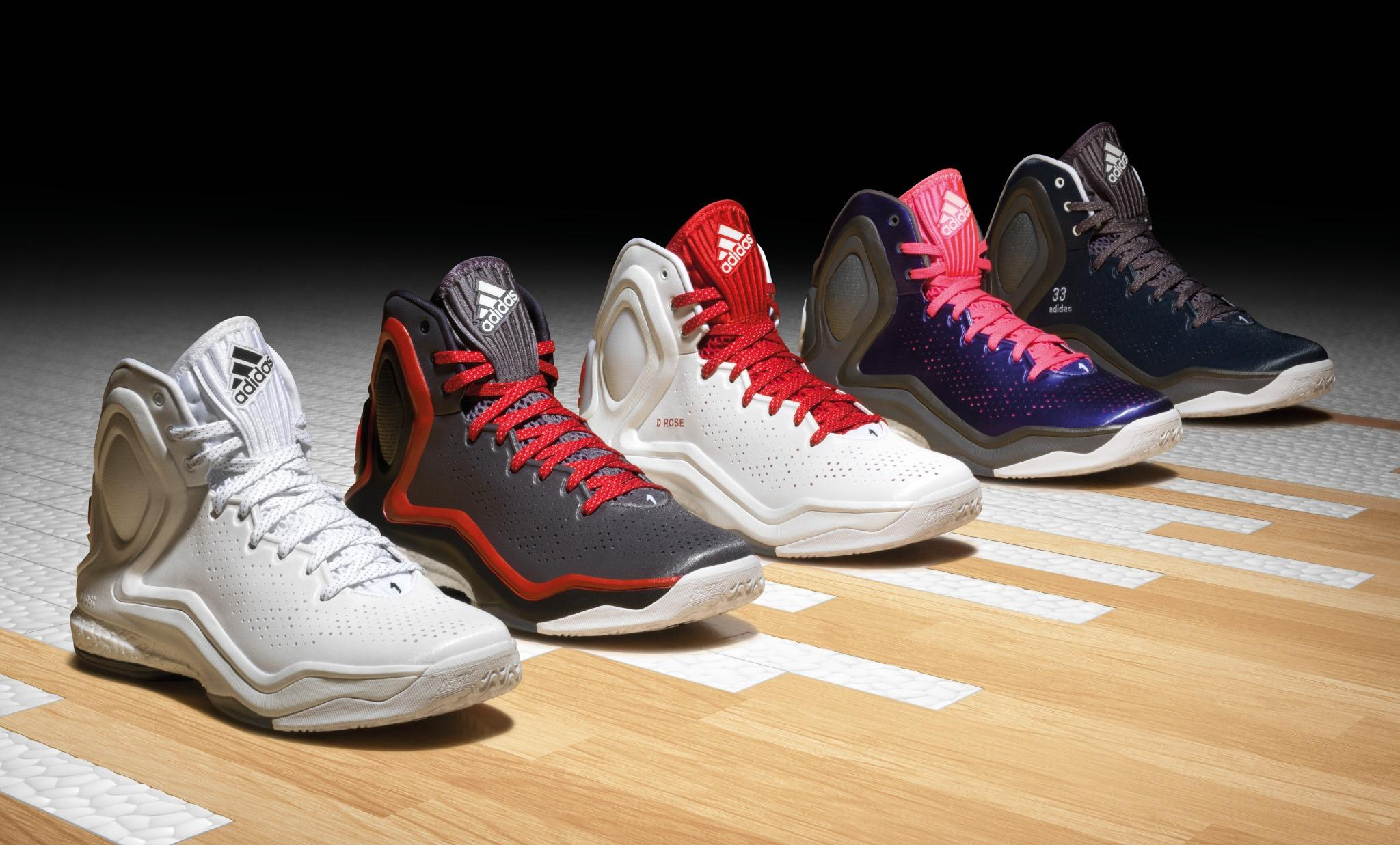 Adidas D Rose 5 Boost White Red