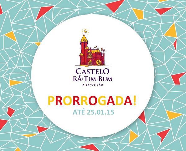 """PAREM AS MÁQUINAS! """"Castelo Rá-Tim-Bum - A exposição"""" visitação PRORROGADA até 25 de janeiro de 2015! ♥ ♥ ♥ http://t.co/u4cDDgKUvP"""
