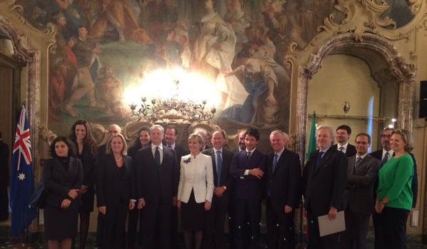 julie bishop meeting with italian businesses
