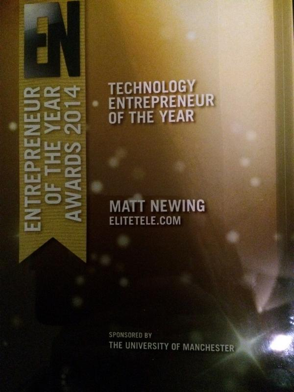 "Elite Telecom on Twitter: ""Congratulations to @MattJNewing winner ..."
