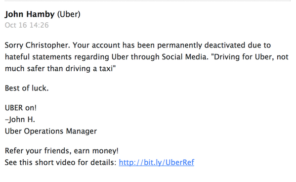 I got banned from @Uber_ABQ for tweeting a @PandoDaily story http://t.co/lFHtKgEkKg http://t.co/TMdHbXAgNx
