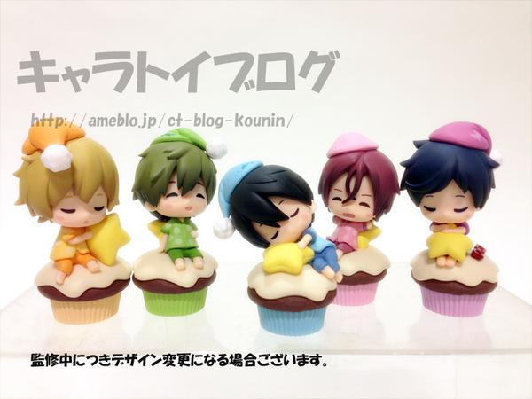 11月下旬発売タイトーくじ本舗「TVアニメFree!~Sugar Cake~」 キャラトイブログを更新! デフォルメフィギュア賞~Cake ver.~を公開 💙 💜 ❤  #TV_Free