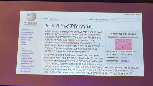 Great work! @Wikimedicine translating accurate #Ebola information into dozens of languages. @jimmy_wales http://t.co/WfeaL4Wtt1