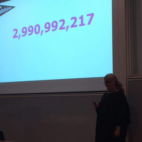 The number of people online when #nemo14 speaker @britstakston checked this morning http://t.co/Z0idoVOZKk