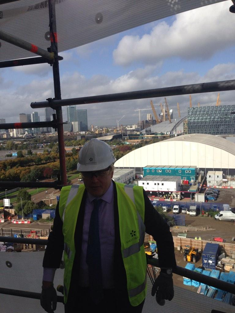 1/2 - This morning I visited the Greenwich Peninsula site which will deliver 656 low cost homes in 1st phase http://t.co/vBanN2YK7J
