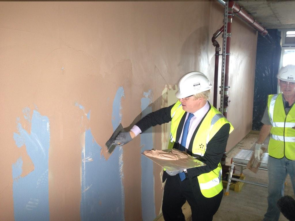 2/2 - whilst there I tried my hand at plastering one of the new shared ownership homes http://t.co/T3bNeOY79o