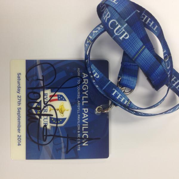 Fancy winning this signed Ryder Cup lanyard for #FreebieFriday? RT & Follow us for a chance to win! http://t.co/NOwwAcpnjh