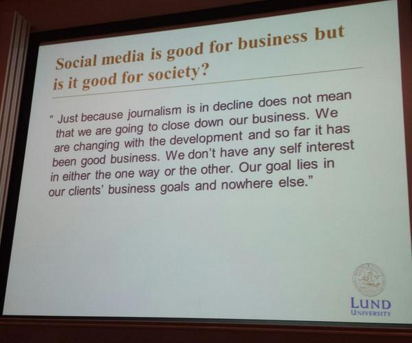 """Social media is good for business but is it good for society? "" #NEMO14 http://t.co/m9HJJJAqsG"