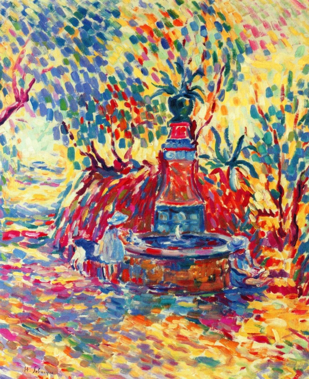 Saint-Tropez, Girls at a Fountain