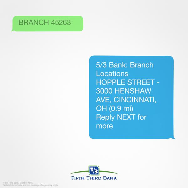 Fifth Third Bank On Twitter With Fifth Third Text Banking Finding