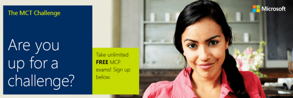 The 2014 Microsoft Certified Trainers Challenge, with FREE exams + great prizes. Details: http://t.co/t9UlrTle1S http://t.co/KpXaInBEC4