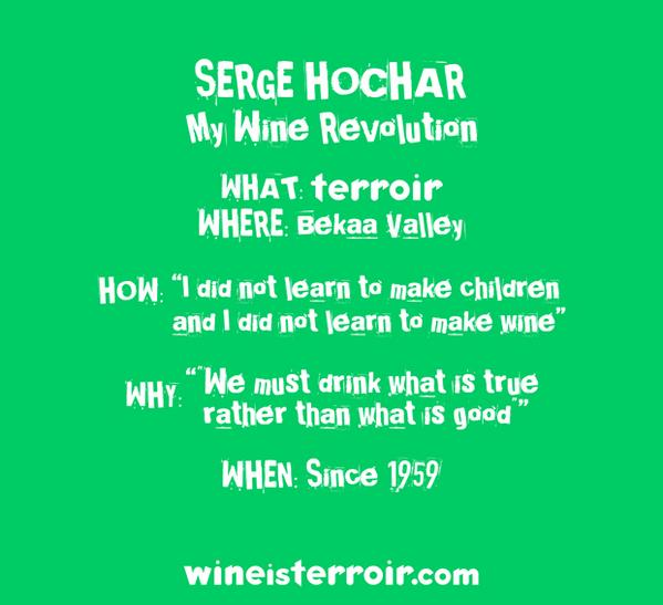 Behold-Serge Hochar (Chateau Musar) tshirt manifesto. We only made, like, 30 of these-El Grieco saved 5 for himself! http://t.co/J7gPgbjswT