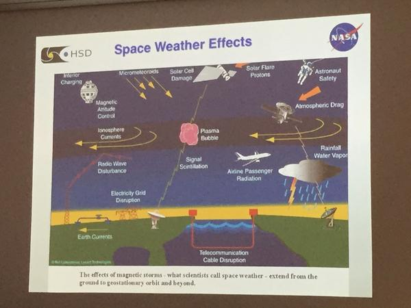 #Magrecon is really about space weather + the damages it can cause earth and space crafts #NASASocial @NASA_MMS http://t.co/nl59JeoyxZ