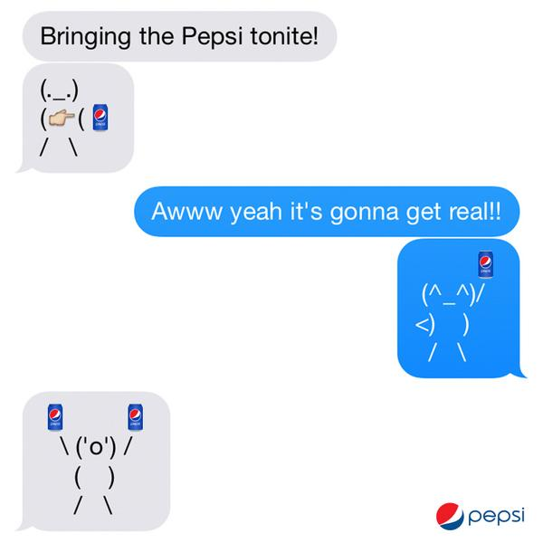Pepsi On Twitter Brb Getting A Textconvoswithfriends Httpt