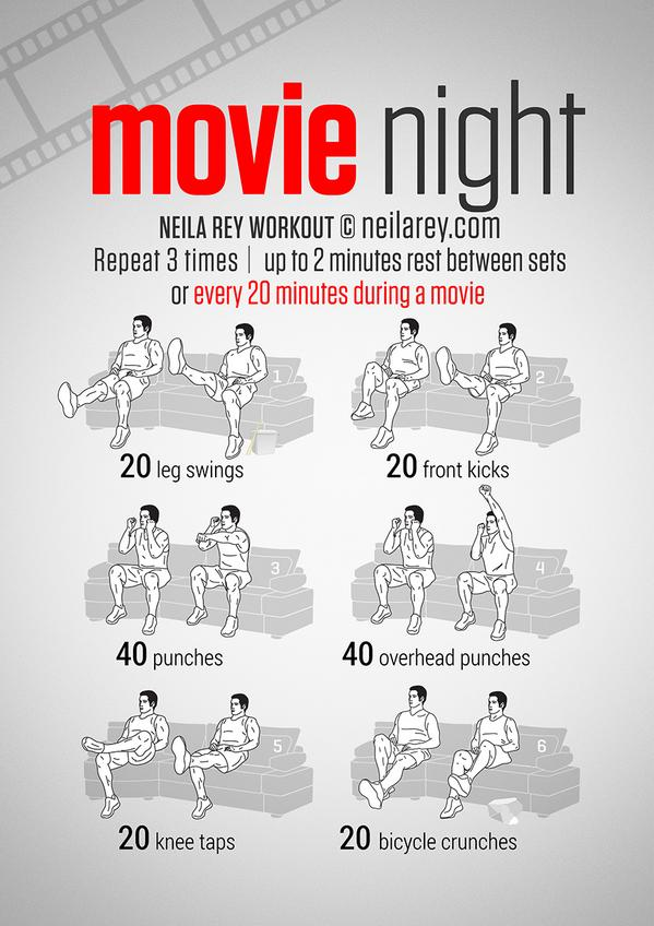Darebee On Twitter Movie Night Workout Http T Co Vvtw2pzwgf Maeryjamj5