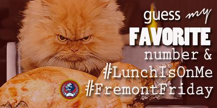 2 tries (entries) per, MUST tweet me your entry, #LunchIsOnMe #FremontFriday #FremontCollege #NatashaSuaCantPlay :) http://t.co/czO3SH2rDI