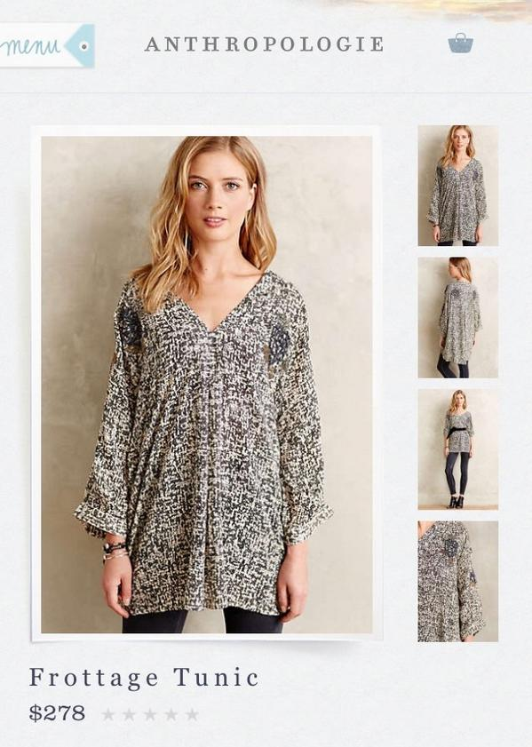 Need an outfit for dry-humping in the middle of a crowd? Look no further than this Anthropologie FROTTAGE tunic. http://t.co/NPPhnS28tl