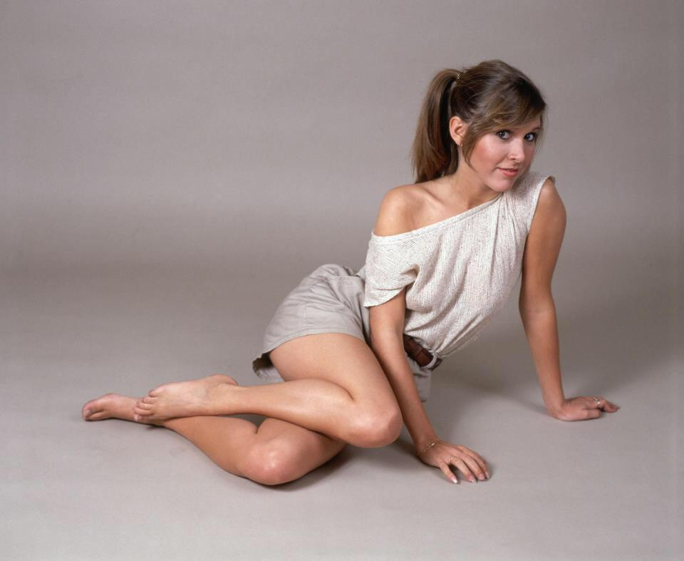 Carrie Fisher or if you're American Carrie FishOR! Worked with her t' day. Lovely woman http://t.co/owINlJz096