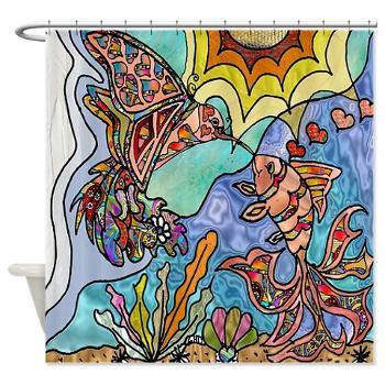 #Hummingbird  ; #Goldfish #Kiss #Art Shower Curtain https://t.co/Gp5fmNqN1W #ShowerCurtain #HomeDecor https://t.co/qiZiTDKKeD