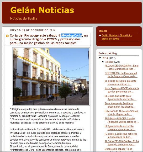 #HootupCoria en Gelán Noticias de #Sevilla:  http://t.co/JPGjMCQvhR @HootsuiteES #HootAmb http://t.co/0gyb1Lr68r