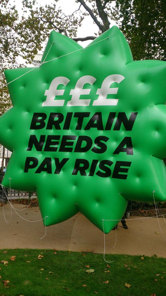 We are marching today in London to say Britain Needs A Pay Rise. Follow it via @PayRise4Britain and #18Oct http://t.co/GI08lwZInr