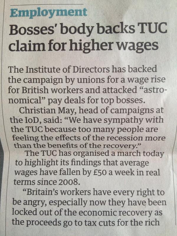 Blimey! The TUC and the Institute of Directors come together on low wages http://t.co/qbXGxOet27