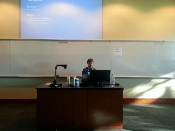 One of our youngest presenters at BarCamp Tampa Bay, Alex Tingiris #bctpa http://t.co/rxAsoBcGF0
