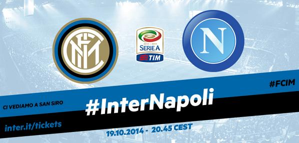 Inter Napoli in Diretta TV Streaming Calcio posticipo Serie A oggi 19/10/2014