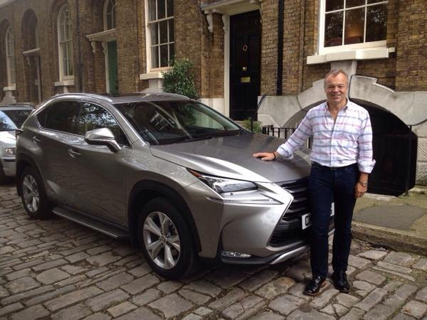 photo of Graham Norton  Lexus Cardiff - car