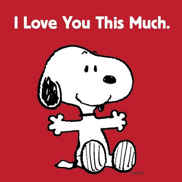 "Peter Stetson on Twitter: ""@Snoopy: I Love You This Much ..."
