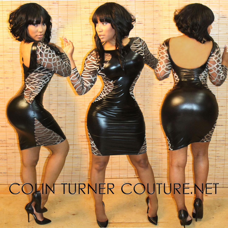 Body Language Mini Dress  Charcoal Clothing