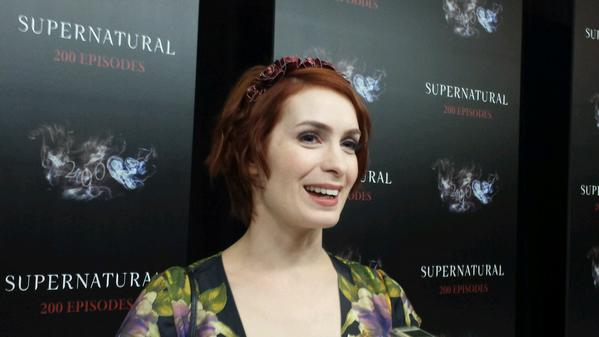 Charlie is back! @feliciaday looks gorgeous on the #SPN200 red carpet. http://t.co/MSFJoYGhdo