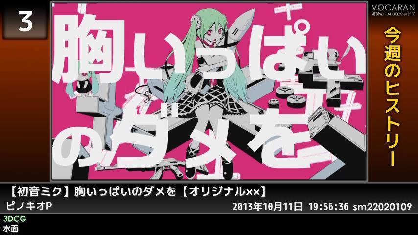 週刊VOCALOIDとUTAUランキング #367・309 [Vocaloid Weekly Ranking #367] B0RvyxsCAAAP8Q4